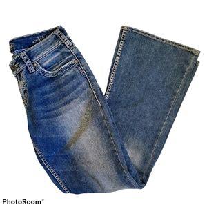 Silver jeans Aiko medium wash flare leg jeans
